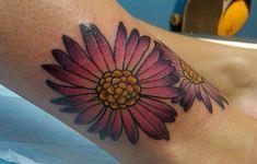 Elegant september birth flower tattoo for girl Aster Tattoo, Aster Flower Tattoos, Birth Flower Tattoos, Flower Tattoo Meanings, Tattoo Flowers, Cute Tattoos, Black Tattoos, New Tattoos, Girl Tattoos