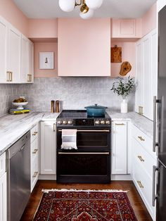 Home Decor Kitchen pink kitchen.Home Decor Kitchen pink kitchen Pink Kitchen Cabinets, Images Of Kitchen Cabinets, Kitchen Images, Kitchen Cabinet Design, Kitchen Pictures, Kitchen Ideas, Kitchen Baskets, Brown Cabinets, Kitchen Trends