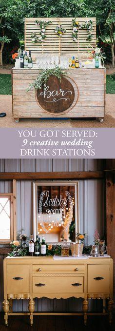 Ideas For Wedding Barn Reception Drink Stations Wedding Table Decorations, Trendy Wedding, Wedding Vintage, Wedding Rustic, Wedding Ideas, Wedding Summer, Vintage Party, Wedding Blog, Wedding Drink Stations