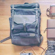 Travel waterproof rolltop backpack, Waxed canvas and leather. Waxed Canvas Bag, Canvas Backpack, Canvas Leather, Hipster Backpack, Laptop Backpack, Travel Backpack, Leather Crossbody Bag, Leather Backpack, Leather Bag