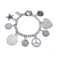 Featuring delicate shapes and dazzling design, wear this bracelet as a graceful finish for formal and everyday ensembles.