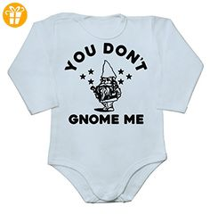 You Don't Know Me Funny Gnome Design Baby Long Sleeve Romper Bodysuit Extra Large - Baby bodys baby einteiler baby stampler (*Partner-Link)