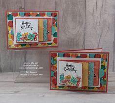 Bonanza Buddies - Flip Card - Video Tutorial (Stampin' Up! Slider Cards, Flip Cards, Fancy Fold Cards, Folded Cards, Kids Birthday Cards, Funny Birthday Cards, Birthday Ideas, Waterfall Cards, Cool Cards