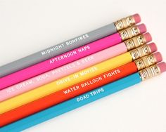 Summer Activity Pencil Set