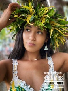Polynesian Girls, Hawaiian Leis, Hula Dancers, Island Girl, Cook Islands, Crowns, Beauty Skin, Surfing, Mermaid