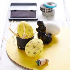 """osterdeko""""]Stempel für Mal-MuffelZwei linke Hände beim Eierbemalen? Dann stempeln Sie Ihre Lieblingsmotive, z.B. Pusteblumen, doch einfach auf!StempelPreis: ca. 3,50 EuroGesehen bei: Perlenfischer über"""