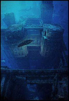 Underwater Ruins by dragos_jieanu