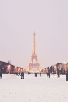 Paris in winter.