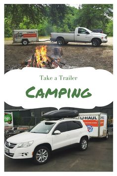 Going camping this summer? Using a trailer to camp makes it so much easier. You can load your tent, food and all your off-roading toys in the trailer and leave space in the car or truck for you and your friends or family! Click through to rent yours. Camping Resort, Florida Camping, Best Tents For Camping, Cool Tents, Camping Guide, Van Camping, Camping World, Camping And Hiking, Camping With Kids