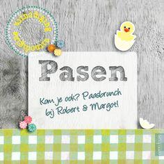 #uitnodiging #Pasen eigen tekst - #Paaskaarten - @Kaartje2go
