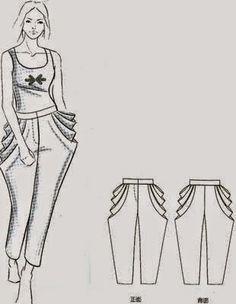 pantalones cin visten patrones decisiones) - modelista kitapları