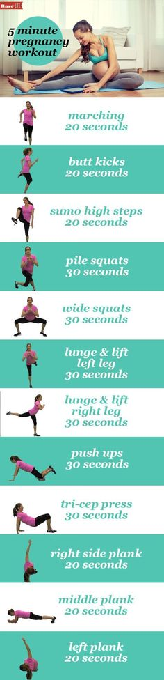 Always important to have a pregnancy workout at your fingertips
