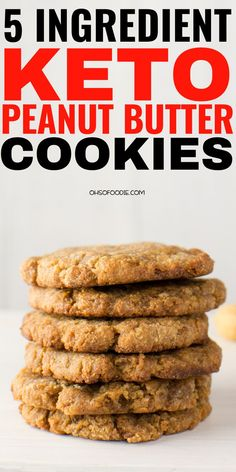 5 Ingredient Keto Peanut Butter Cookies that are flourless and made with cream cheese and homemade keto peanut butter. These are super easy to make and made chewy low carb peanut butter cookies with only g net carbs in every six cookies! These taste li Keto Cookies, Keto Peanut Butter Cookies, Low Carb Peanut Butter, Butter Cookies Recipe, Cream Cheese Cookies, Cookies Et Biscuits, Chip Cookies, Cookie Butter, Keto Biscuits
