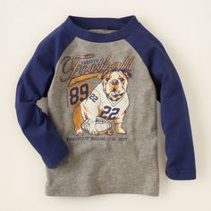 baby boy - long sleeve tops - bulldog top   Children's Clothing   Kids Clothes   The Children's Place 4t