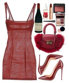 """""""VALENTINES DAY 2018"""" by mariimontero ❤ liked on Polyvore featuring Wolford, SALAR, Korres, Charlotte Tilbury, NARS Cosmetics, Clé de Peau Beauté and Stila"""