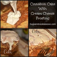 cinnabon cake with cream cheese frosting