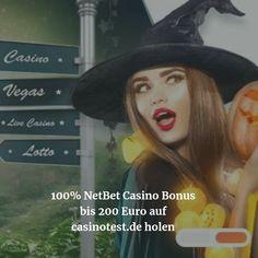 Kennt ihr schon das NetBet Casino? Der Testsieger unter den Top 10 Online Casinos in Deutschland im Oktober auf casinotest.de! Hier könnt Ihr Euch einen 100% Bonus bis zu 200€ holen!  #casinotest #casinobonus #netbetcasino #netbet #onlinecasino Vegas, Online Casino, Sports Betting, October, Word Reading, Germany