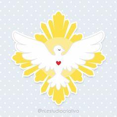 Godchild Gift, Holy Spirit Come, Faith Hope Love, First Communion, Line Art, Christianity, Catholic, Decoupage, Cricut