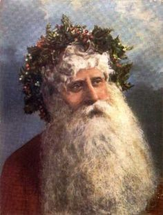 OLE' ST. NICK WITH HOLLY CROWN! Christmas Tree And Santa, Old World Christmas, Santa And Reindeer, Old Fashioned Christmas, Christmas Scenes, Christmas Past, Father Christmas, Vintage Christmas Cards, Christmas Pictures