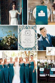 October Wedding Colors, Winter Wedding Colors, April Wedding, Wedding 2017, Blue Wedding, Wedding Bells, Dream Wedding, Peacock Wedding, Wedding Wishes