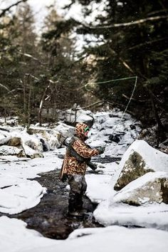 Never too cold to fish. as long as you don't mind cleaning the ice out of your line guides and sticking your frozen reel inside your waders to thaw out. Fly Fishing Tips, Fishing Pictures, Gone Fishing, Trout Fishing, Fishing Lures, Happy Fishing, Hunting Girls, Fish Camp