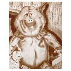 Piggy Stuffed Animal Brown Charcoal Drawing Jigsaw Puzzles    •   This design is available on t-shirts, hats, mugs, buttons, key chains and much more    •   Please check out our others designs and products at www.zazzle.com/zzl_322881145212327*