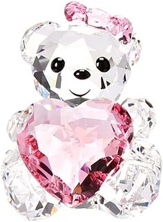 Swarovski Only For You Kris Bear Collectible Doll Glass Figurines, Collectible Figurines, Swarovski Crystal Figurines, Swarovski Crystals, Cristal Art, Magical Jewelry, Cute Room Decor, Fantasy Jewelry, Cute Disney