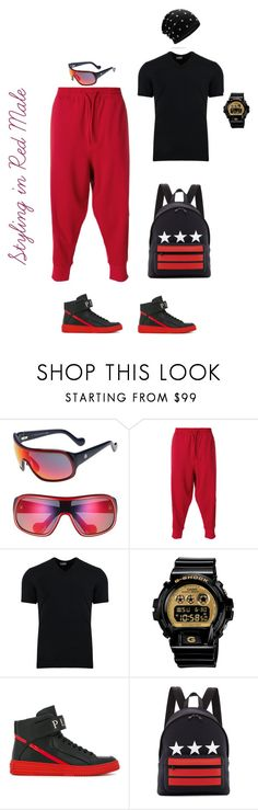 """""""Male Dressing for Sports"""" by sylviaasue ❤ liked on Polyvore featuring Moncler, Y-3, Dolce&Gabbana, Casio, Philipp Plein, Givenchy, men's fashion and menswear"""