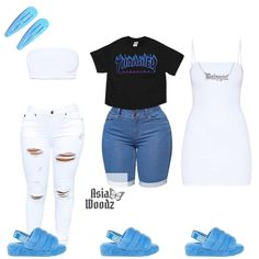 Cute Lazy Outfits, Baddie Outfits Casual, Swag Outfits For Girls, Teenage Girl Outfits, Cute Swag Outfits, Girls Fashion Clothes, Teen Fashion Outfits, Girly Outfits, Dope Outfits