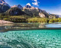 lifeunderthewaves:  Tovel lake - Dolomites by VittorioDelliPonti...