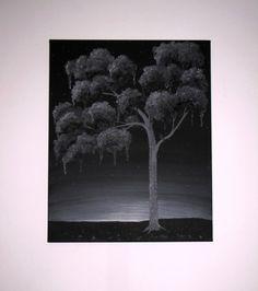 Raven Night Black Weeping Tree Original Oil and by ArtByKatieK, $260.00