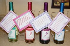Shower Hostess Gift, Baby Shower Thank You, Gift For Hosting Baby Shower,  Wine Label, Wine Gift For Shower, Thank You Wine Label | Babies, ...