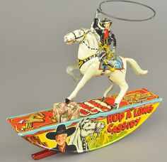 HOP A'LONG CASSIDY ON HORSE, tin wind up