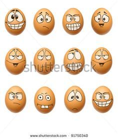 Set Egg Face Stock Photo 91750340 : Shutterstock