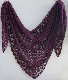 Speaking of shawls, this one is my favourite crochet patterns EVER - The Mahogany Shawl Pattern - South Bay Shawlette by Lion Brand This particular pic © tearaleaf Here are some pics of my version of the South Bay Shawlette and others.
