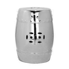 Ceramic stool Ming - Silver €150 45x33