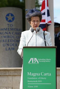 The Princess Royal also gave a speech to US lawyers at Runnymede - 15th June 2015