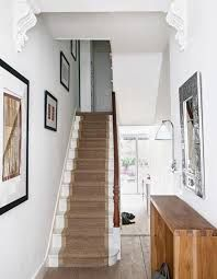 Modern hallway pictures and photos for your next decorating project. Find inspiration from of beautiful living room images White Hallway, Modern Hallway, White Staircase, Natural Oak Flooring, Hallway Pictures, Hallway Ideas, Cream Living Rooms, Flooring For Stairs, Hallway Inspiration