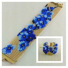 off loom beading Loom Bracelet Patterns, Bead Loom Bracelets, Bead Loom Patterns, Beading Patterns, Beading Ideas, Beading Supplies, Beaded Jewelry Designs, Bead Jewellery, Motifs Perler