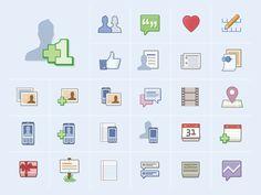 Facebook Icons & Illustrations | The Design Portfolio of Ben Barry