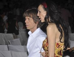 British rock star #MickJagger arrives with girlfriend L'Wren Scott for the Rajasthan International Folk Festival (RIFF) in Jodhpur, India. Jagger is the International Patron of the Jodhpur RIFF, according to festival organizers. (AP Photo)  #RIFF Visit: www.newindianexpress.com