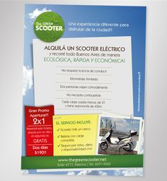 The Green Scooter / Flyer Promo 2x1 / Print