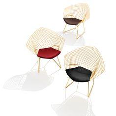 Bertoia Diamond Chair - Gold