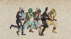 Эволюция персонажей звездных войн Звездный войны, персонажи, гифка, длиннопост