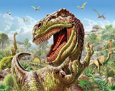 T - Rex Time - 60 Piece Puzzle - White Mountain Puzzles Dinosaur Puzzles, Jigsaw Puzzles For Kids, Jurassic Park T Rex, Hyperrealism, 5d Diamond Painting, Cross Paintings, London Art, Tilbury, Diy Painting