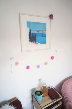 Papierblumengirlande zum Muttertag, mother's day flower garland DIY