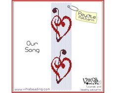 Peyote Bracelet Pattern Our Song   INSTANT by VikisBeadingPatterns, $6.50