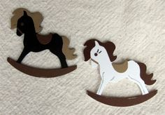 Free shipping on ALL scrapbooks till the end of the year within the United States.    Custom Rocking Horse Embellishments | princessbooksbyjmh - Paper/Books on ArtFire