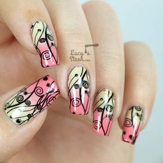 Stamped Gradient Nail Art with Video Tutorial http://lucysstash.com/2014/09/stamped-gradient-nail-art-with-video-tutorial.html