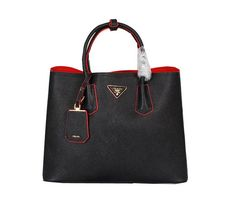 Prada Saffiano Cuir Leather Tote Bag BN2756 Black - $269.00